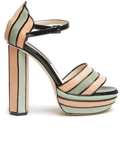 Chrissie Morris Yazmin Multi-Stripe Sandal