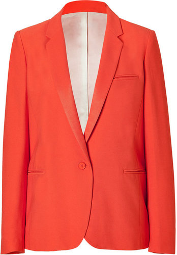 Sandro Tangerine One-Button Jacket
