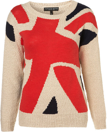 LaLa Anthony Red &amp; Black Print Sweater in UK