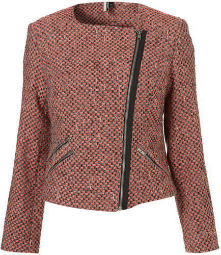 Fluro Boucle Biker Jacket