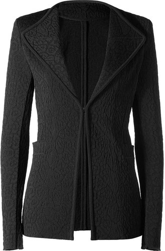 Givenchy Black Knitted Blazer With Shoulder Pads