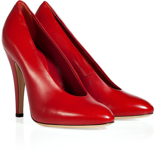 Casadei Red Leather Pumps