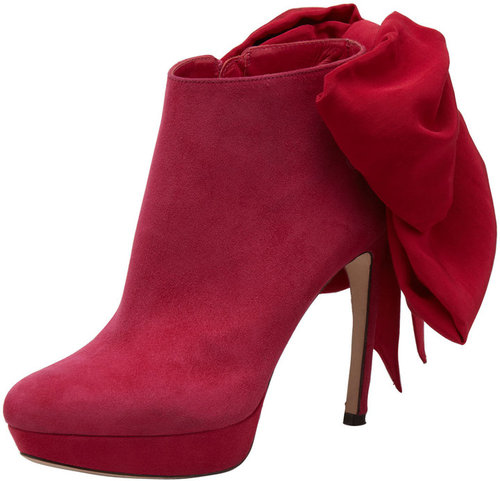 Alexander McQueen Bow-Back Ankle Boot
