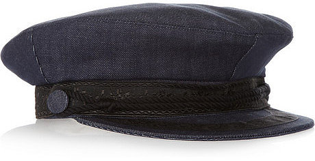 Faith Connexion Annabelle Dexter-Jones denim flat cap