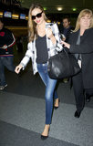February 2013: At The Airport In New York