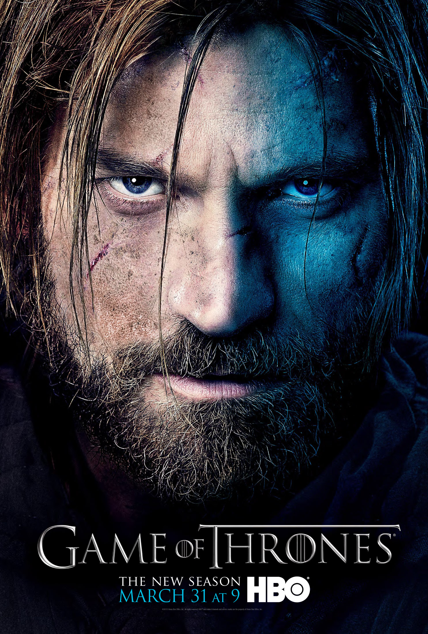 Jaime Lannister Game of Thrones season three poster.