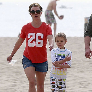 Britney Spears at the Beach With Her Sons