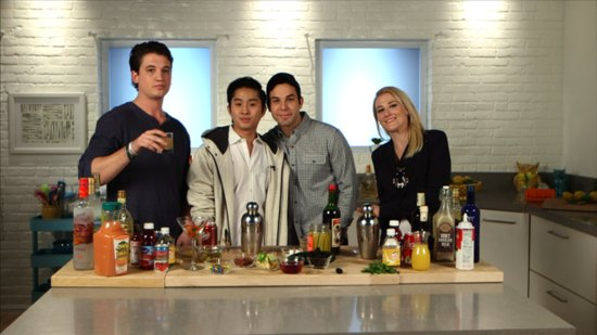 Watch the Guys of 21 and Over Go Head-to-Head in a Cocktail-Mixing Contest!
