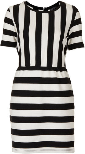 Texture Stripe Shift Dress