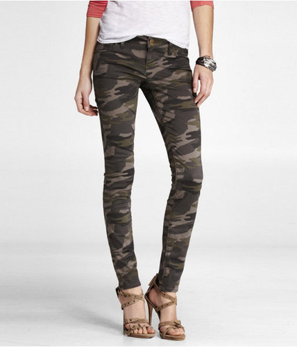 Stella Colored Brushed Sateen Legging - Camouflage