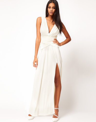 ASOS Grecian Maxi Dress with Thigh Split