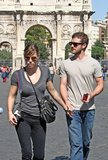 Jessica Biel and Justin Timberlake went sightseeing while visiting Rome together in September 2008.