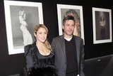 Shakira posed in front of photographs at the exhibition.