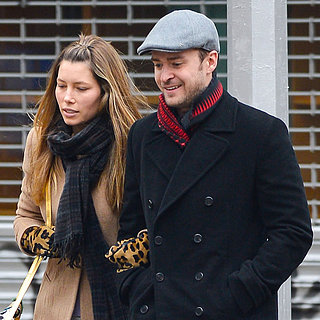 Justin Timberlake and Jessica Biel Walking in NYC