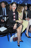 Olivia Palermo took her seat at the Christian Dior show during Paris Fashion Week on Friday.