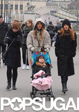 Jessica Alba and Honor Strike a Sweet Pose in Paris