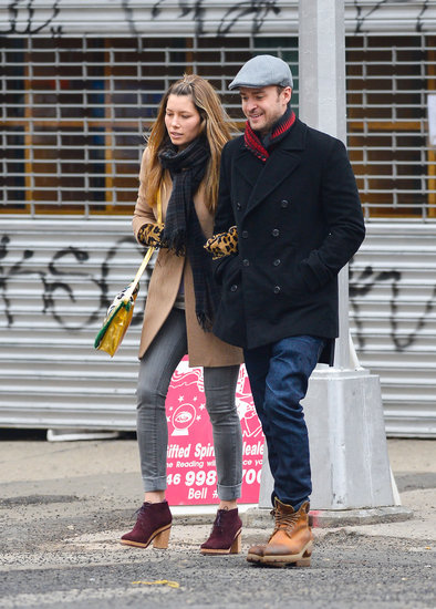Justin Timberlake and wife Jessica Biel were arm in arm for a stroll in NYC.