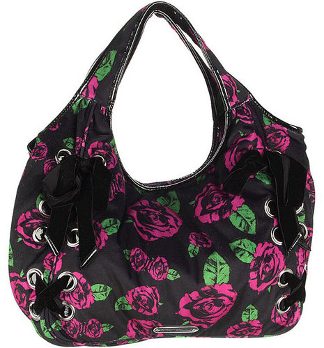 Betsey Johnson Handbags Rose Above Hobo, Purple 1 ea