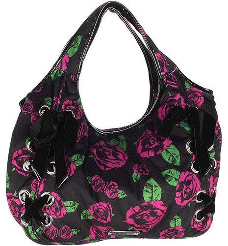 Betsey Johnson Handbags Rose Above Hobo, Purple 1 ea