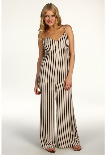 BCBGeneration  Low V Striped Jumpsuit