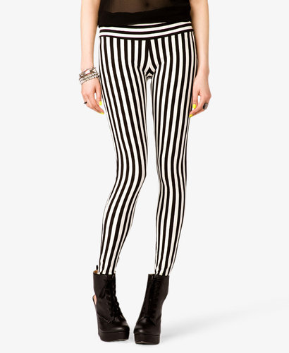 FOREVER 21 Vertical Striped Leggings