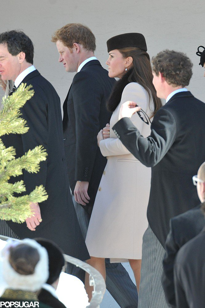 Kate Middleton and Prince Harry arrived at the church together.