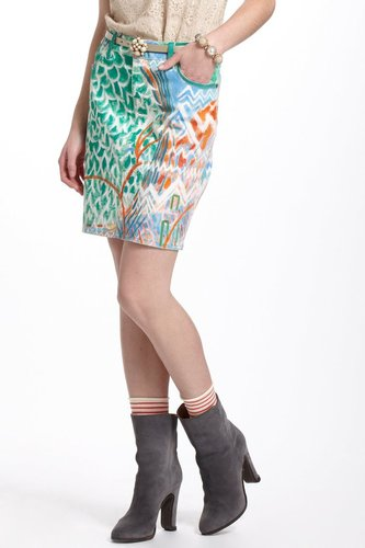 The Seussly Handpainted Denim Skirt