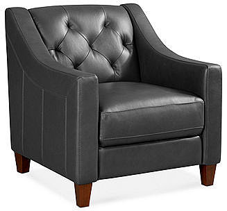 "Claudia II Leather Living Room Chair, 31 ""W x 35""D x 33""H"