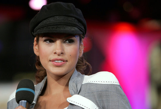 Back in 2005, Eva Mendes wore a newsboy cap over a curled ponytail to MTV's TRL.