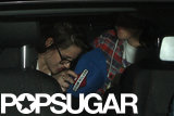 Kristen Stewart piled into a car with friends.