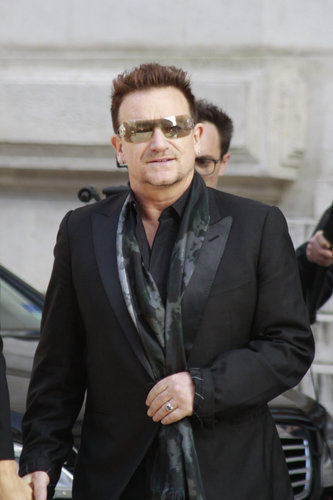 Bono walked into Stella McCartney's Paris presentation in March.