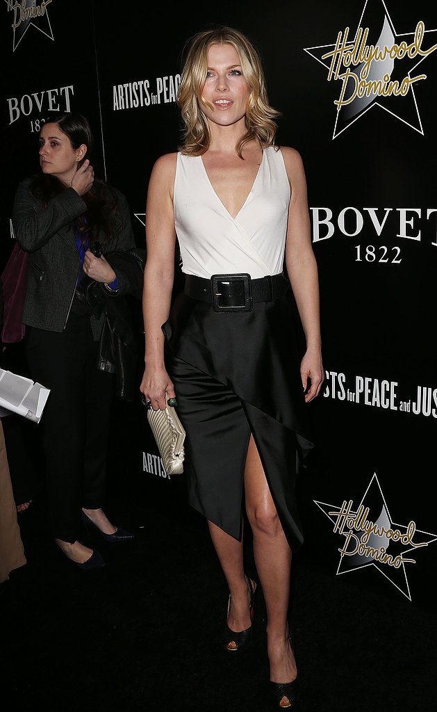 Ali Larter got in on the black and white craze via a two-toned wrap dress at an event in West Hollywood.