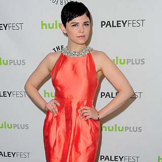 Ginnifer Goodwin Wearing Orange Dress at PaleyFest 2013