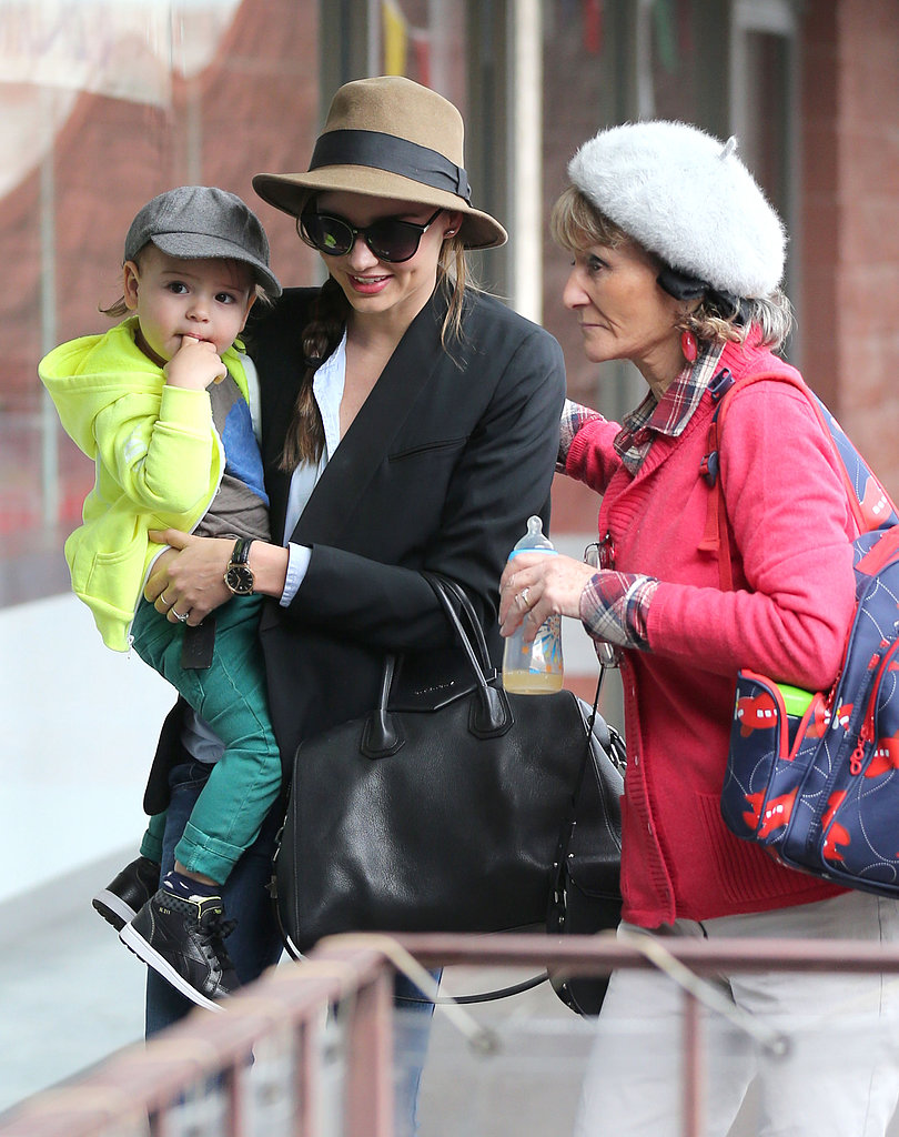 Miranda Kerr and her mother-in-law, Sonia, headed to an LA children's gym with Flynn on Monday.