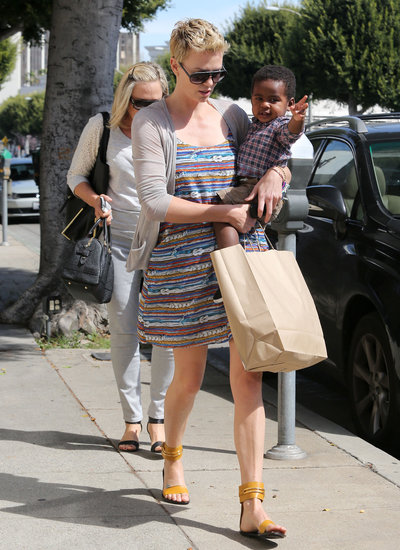 Charlize Theron took Jackson to get a haircut in LA on Saturday.