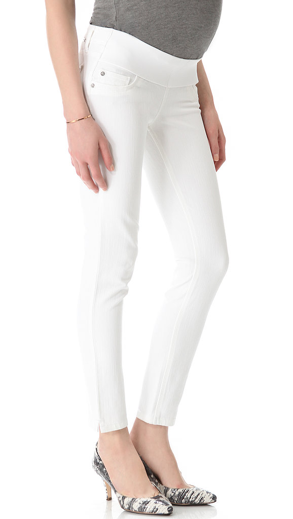 White jeans are always a sure sign that Spring is in the air. Dl1961's Angel Maternity Ankle Jeans ($168) are chic enough to wear to work or to a shoreside excursion.