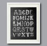 Chalkboard Alphabet Print