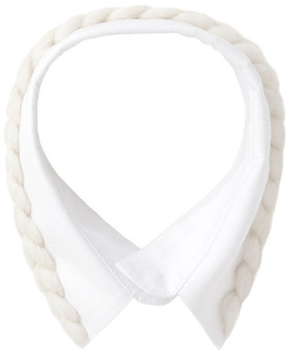Simone Rocha  / Cotton Collar w/ Knit Detail