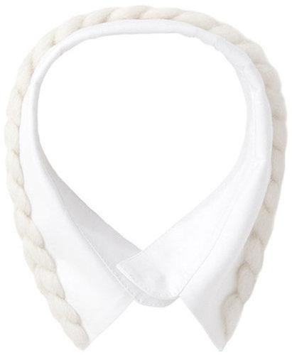 Simone Rocha  / Cotton Collar w/ Knit Detail