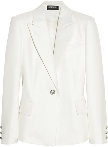 Balmain Woven cotton and silk-blend blazer