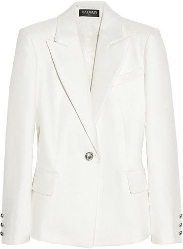 Balmain Woven cotton and silk-blend blazer