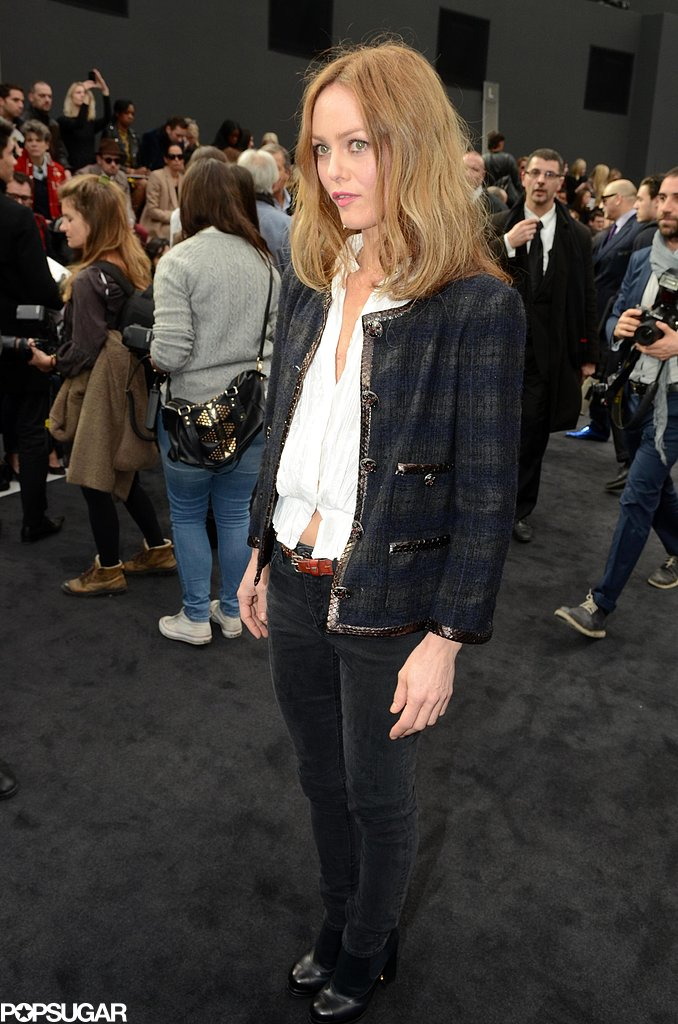 Vanessa Paradis wore a classic Chanel jacket.