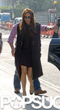 Victoria Beckham Flashes Leg While Out in London