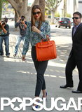 Miranda Kerr headed to a business meeting.