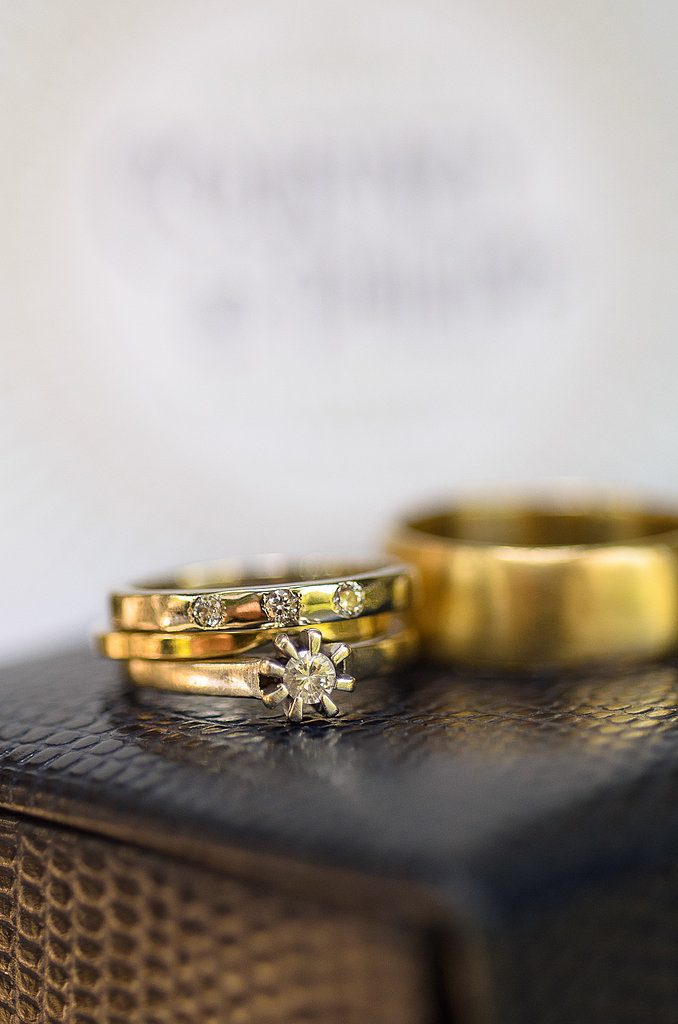 A close-up of the rings that perfectly depict the personality of the couple (and wedding, too!).  Photo courtesy of Juliette Tinnus