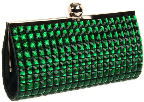 Kate Spade New York  Confectionary Anastasia Clutch,Emerald,One Size