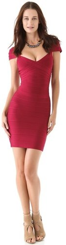 Herve leger Cap Sleeve Dress