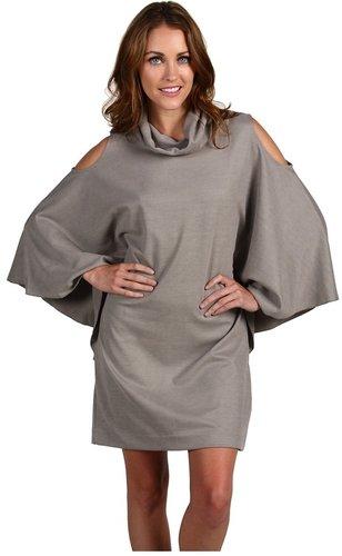 Nicole Miller  Cupro Ponte Cold Shoulder Dress
