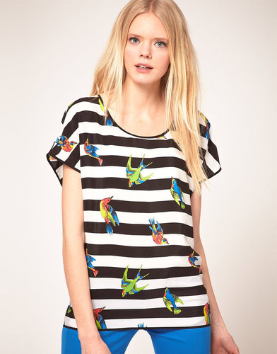 MSGM Bird Print Top