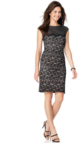 Maggy London Dress, Sleeveless Lace Sheath